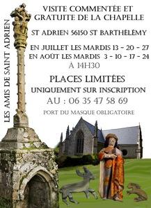 Visite de La Chapelle de St Adrien @ Chapelle de St Adrien